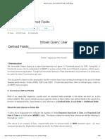 Infoset Query User Defined Fields
