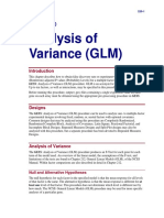 Analysis of Variance (GLM)