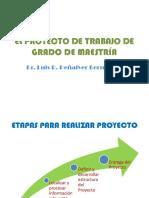 EL PROYECTO DE TRABAJO DE GRADO DE MAESTRÍA