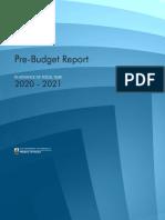 20 21 Pre-budget Report