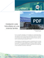 Instalacion Solar Fotovoltaica en Una Vivienda Familiar
