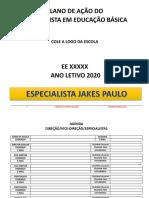 Plano de Ação Do Especialista Em Educação 2020