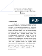 ESTRATÉGIAS DE APROXIMAÇÃO DAS TECNOLOGIAS PROFESSOR-ALUNO NA CULTURA DIGITAL