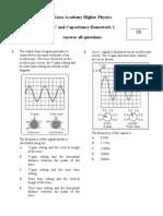 Ac and Capacitance Hmwk1