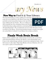 Library News December 2010