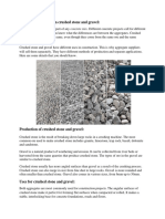 The difference between crushed stone and gravel