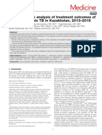 A retrospective analysis of treatment outcomes of drug-susceptible TB in Kazakhstan, 2013–2016