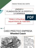 TEMA 3.3. PLAN DE REQUERIMIENTO DE MATERIALES