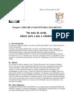 Projeto CRECHE COMUNITÁRIA SAO BENTO2