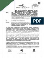 Directiva 001 de 2020