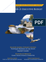 NYS Senate Majority Staff Analysis of the 2020-21 Executive Budget Proposal