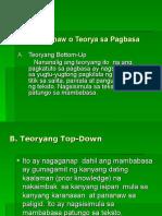 Mga Pananaw o Teorya Sa Pagbasa