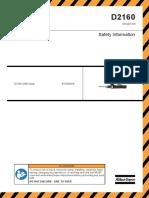 Safety Information D2160 Atlas Copco