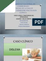 CASO CLINICO DE TRASTORNOS DE APRENDIZAJE