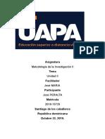 UNIDAD II METODOLOGIA DE LA INVESTIGACION II