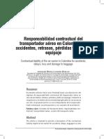 RESPONSABILIDAD CONTRACTUAL DEL TRANSPORTADOR AÉREO
