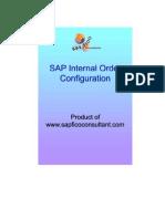 SAP Internal Order Investment Measure Configuration