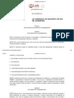 Lei Orgânica do Rio de Janeiro - RJ