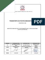 TRANSPORTE DE POSTES MEDIANTE GRUA