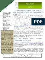 Law Offices of Jonathan Cooper's November '10 Newsletter