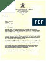 BF Letter to FM Re JCLS Docs