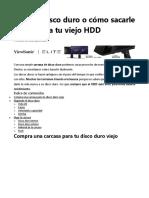 Carcasa disco duro o cómo sacarle provecho a tu viejo HDD