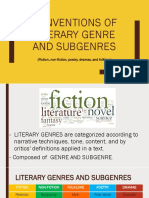 1. Conventions of traditional genre