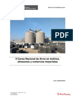 II Censo Nacional de Arroz - Setiembre 2018