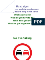 Road Signs Modal Verbs