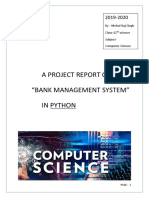 A PROJECT REPORT ON BANK MANAGEMENT SYSTEM