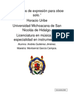 2 estudios de expresión para oboe solo Horacio Uribe