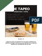 De Tapeo Aperitivos Y Tapas