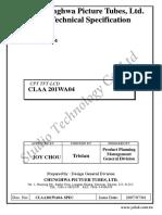 CLAA201WA04 матрица 206bw