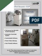 Friction Coefficient Test Machine