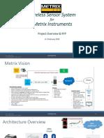 Wireless Sensor RFQ for Metrix Instruments v1.1