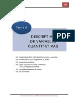 Análisis descriptivo de variables cuantitativas