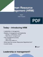 Human Resource Management:Introduction