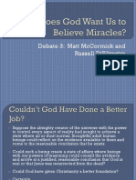 Does God Want Us to Believe in Miracles