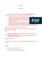 Research Format for Chapter 1