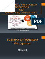 Introduction of Production & Operations Management
