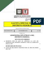 1.11 Ley Ingresos 2007 GDF 30dic06