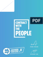 Brexit Party Manifesto 2017 2019 Contract With the People