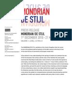 Mondrian/De Stijl exhibition - Pompidou Centre, Paris