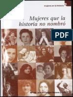Mujeres que la historia no nombró