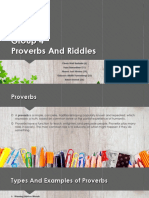 Proverbs and Riddles