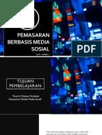 PEMASARAN BERBASIS MEDIA SOSIAL