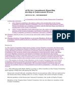 Proposed by Law Amendments Regarding Membership and Endorsements Process