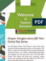 JEE Main Online Test Series