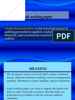 Audit working paper