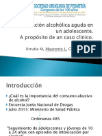 Intoxicación Alcoholica  Aguda en un Adolescente Urrutia M, Maurente L